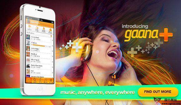 【经典网站】GaaNa:印度在线音乐听歌网