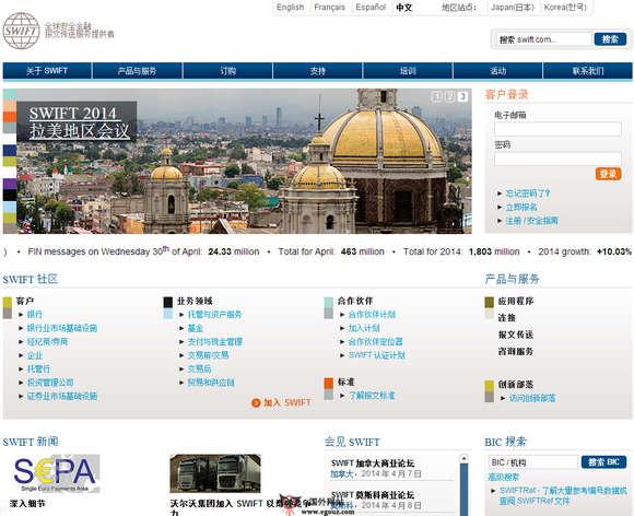 【经典网站】Swift:国际银行非盈利性国际合作组织