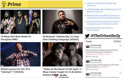 【经典网站】TheUrbanDaily:黑人娱乐新闻门户网
