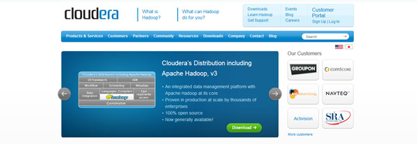 【数据测试】Hadoop开源软件供应商Cloudera融资4000万美元