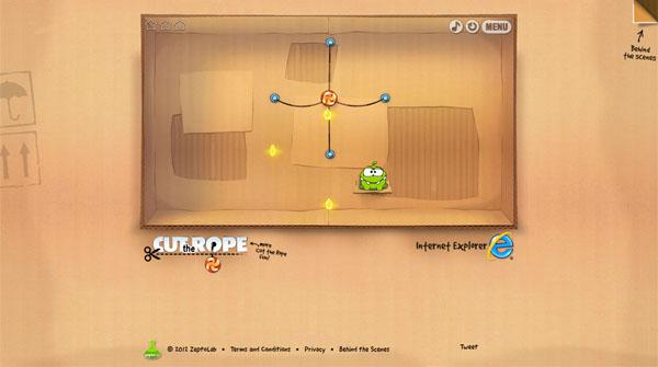 【数据测试】HTML5游戏:割绳子Cut the Rope