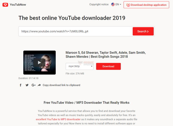 【工具类】好用的在线YouTube下载器 – YouTubNow