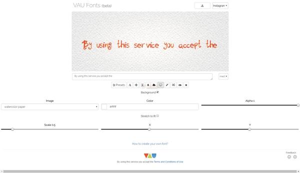 【工具类】Vaufonts|免费在线艺术字体生成器