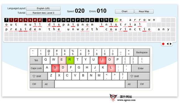 【工具类】KeyBr:在线键盘打字练习工具
