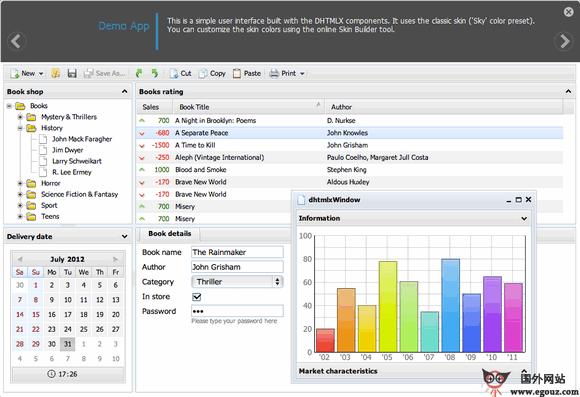 【经典网站】DhtmlX:移动WEB应用开发技术平台
