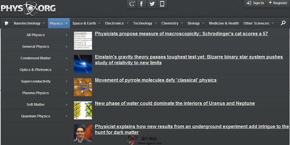 【经典网站】PHYS.org:世界科技研究新闻资讯网