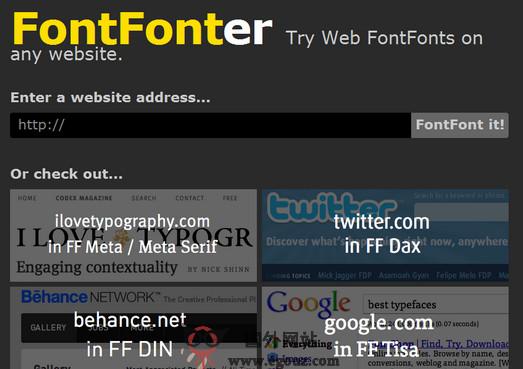 【工具类】FontFonter:网页字体设计插件
