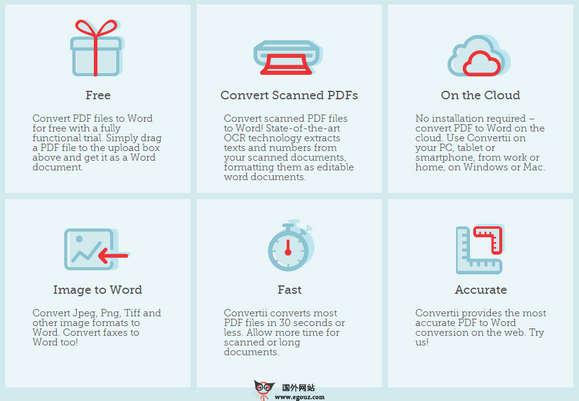 【工具类】ConverTii:在线PDF转Word工具