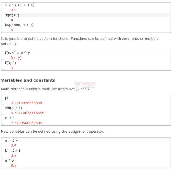 【工具类】MathNotepad 在线专业数学计算编辑器