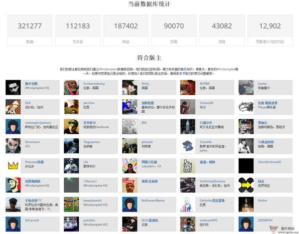 【经典网站】WhoSampled:在线非主流音乐平台
