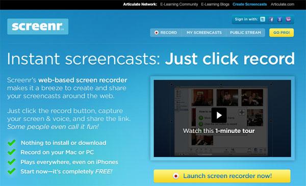 【数据测试】免费在线屏幕录像云软件:Screenr