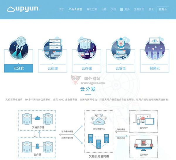 【经典网站】又拍云|新一代CDN 服务提供商