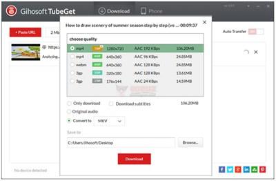 【工具类】Gihosoft TubeGet|Youtube视频下载工具