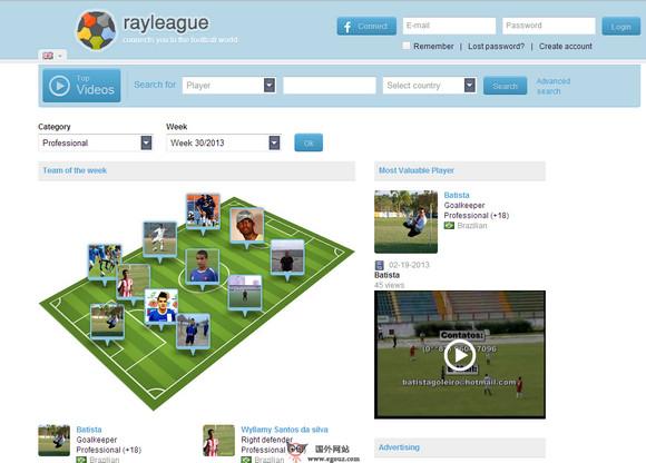 【经典网站】RayLeague:在线足球社交网络平台