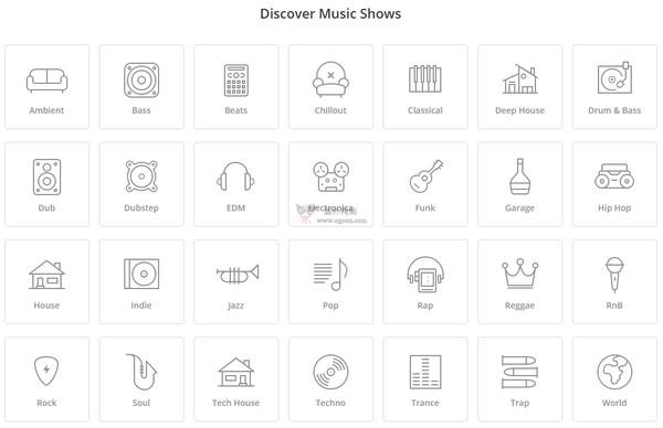 【经典网站】MixCloud:世界音乐电台大全