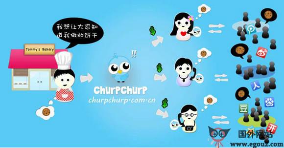 【经典网站】ChurpChurp:微博社区达人聚集推广平台