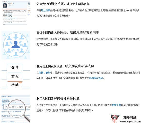 【经典网站】UShi:优士职业社交平台