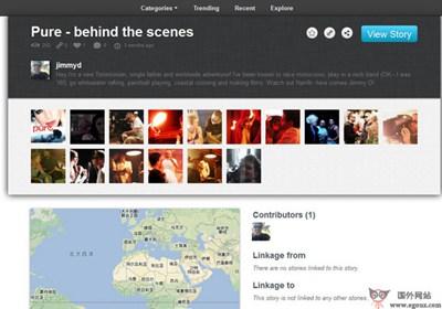 【经典网站】Narr8r:社交图片故事流分享平台
