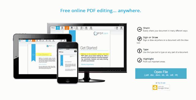 【工具类】PDFzen:在线免费PDF文件编辑工具