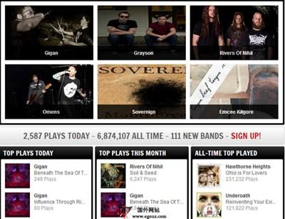 【经典网站】StereoKiller:在线摇滚音乐托管平台