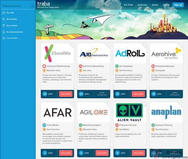 【经典网站】Traba.CO:初创企业招聘求职网