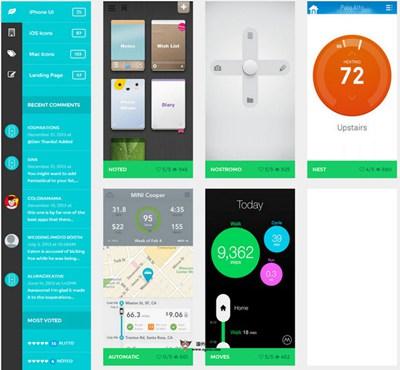 【素材网站】iOSpirations:苹果用户界面灵感设计库