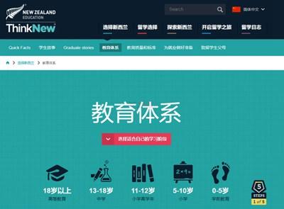 【经典网站】新西兰教育国际推广局