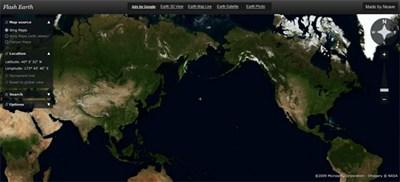 【数据测试】快速在线查看全球卫星地图 flashearth