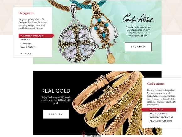 【经典网站】美国Jewelry珠宝设计购物网