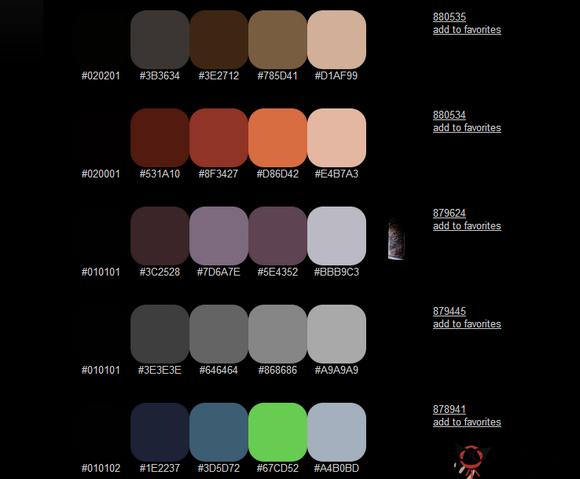 【工具类】ColorHunter:在线配色筛选工具