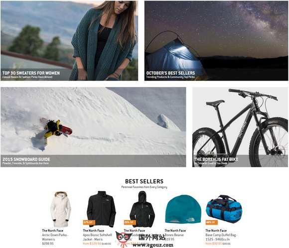 【经典网站】BackCountry:美国户外装备购物官网