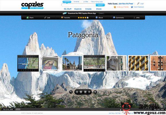 【经典网站】Capzles:多媒体生活瞬间云存储