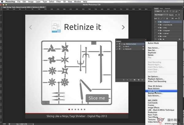 【工具类】Retinize:网页设计PhotoShop切图工具