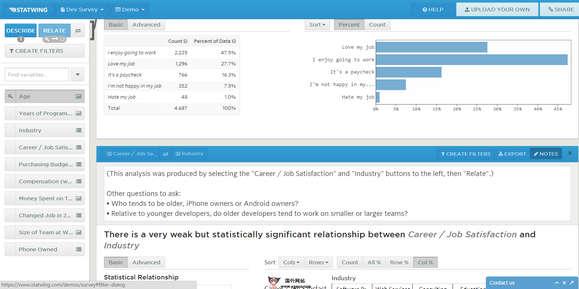 【工具类】Statwing:在线产品统计分析工具