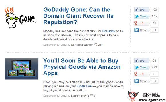 【经典网站】MaShable:互联网新闻评论平台