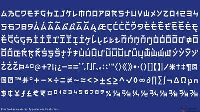 【素材网站】Electroharmonix:日文式免费英文字体