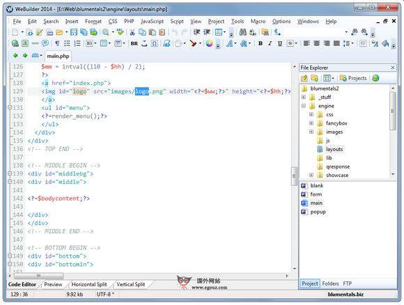 【工具类】BlumenTals:网页设计软件开发平台