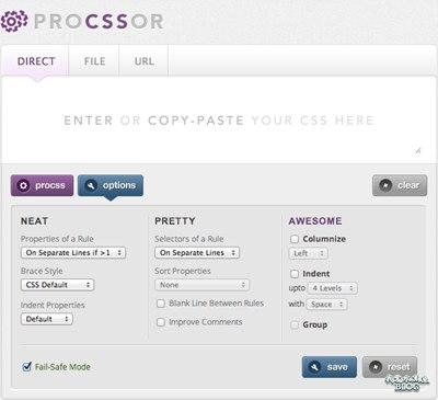【Wordpress相关】ProCSSor:一个整理 CSS 代码的超棒工具