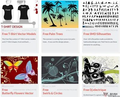 【素材网站】Vector4Free:免费矢量素材资源库
