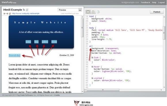 【经典网站】WebPutty:基于浏览器开源CSS编辑器