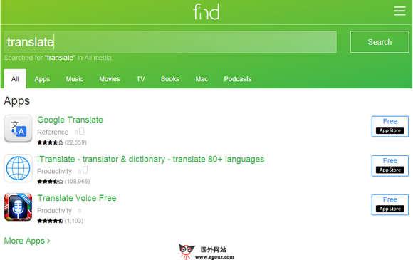 【经典网站】FND.IO:苹果应用快速搜索网
