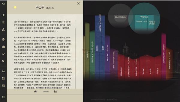 【经典网站】MusicMap:流行音乐流派图谱