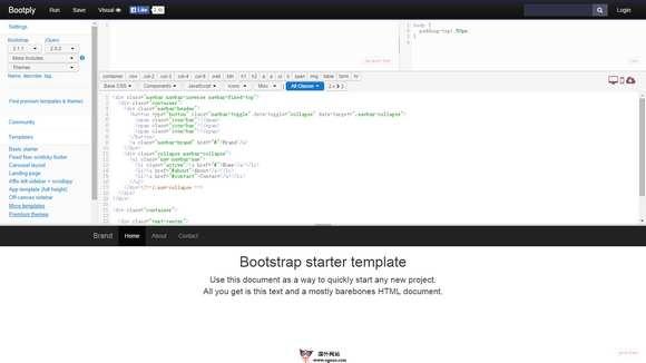 【工具类】在线Bootstrap可视化编辑器
