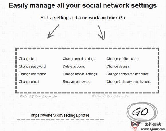 【工具类】Blisscontrol:社交网站设置选项管理工具