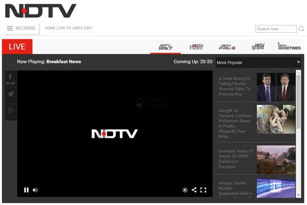【经典网站】NDTV:新德里电视台