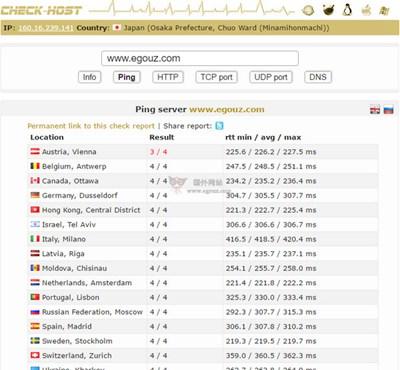 【工具类】CheckHost:在线网站速度检测工具