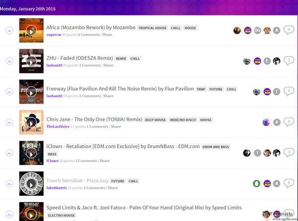【经典网站】TheDrop Club:免费电子音乐分享网