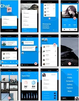 【素材网站】Chat:免费UI原型界面项目