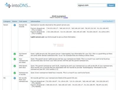 【工具类】intoDNS|在线DNS状态检测工具