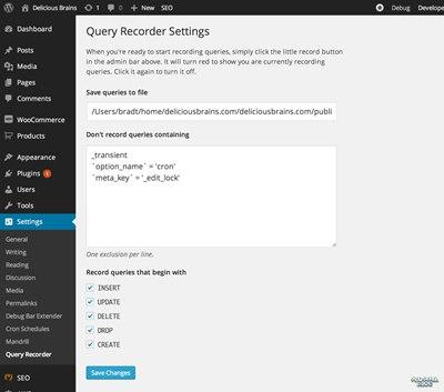 【Wordpress相关】WordPress Query Recorder 插件:把所有 SQL 查询保存到文件中用于开发